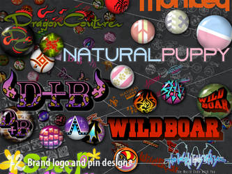 Brand Logo and Pin Designs