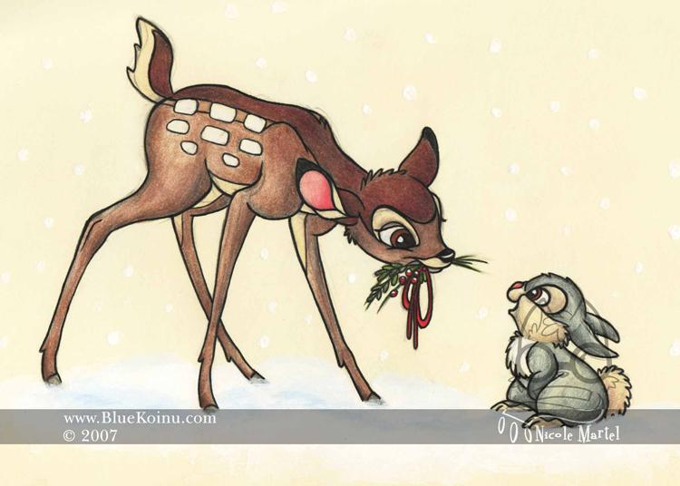 Bambi Christmas by bluekoinu