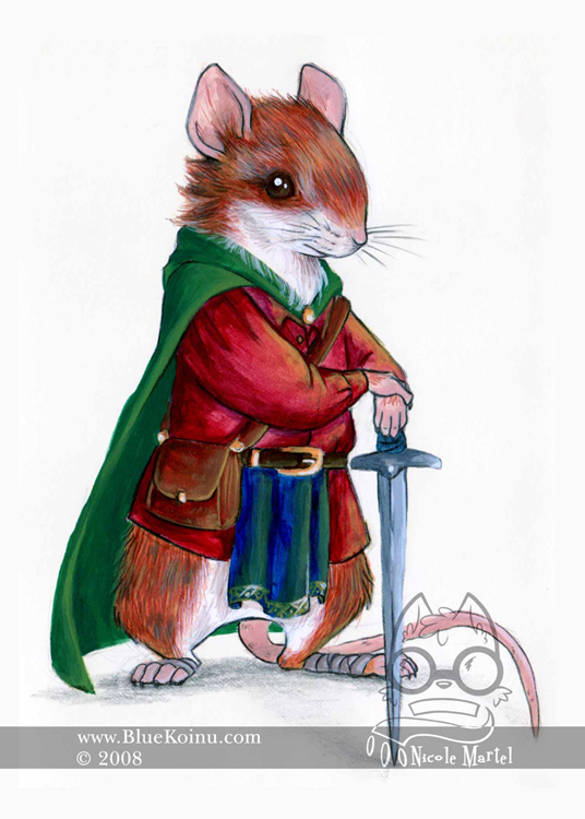 Warrior Mouse by bluekoinu