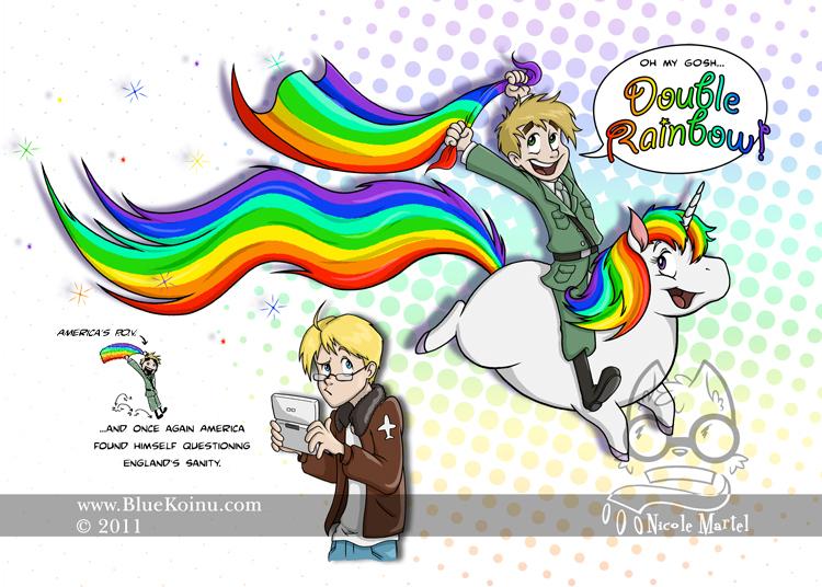 Double Rainbow by bluekoinu