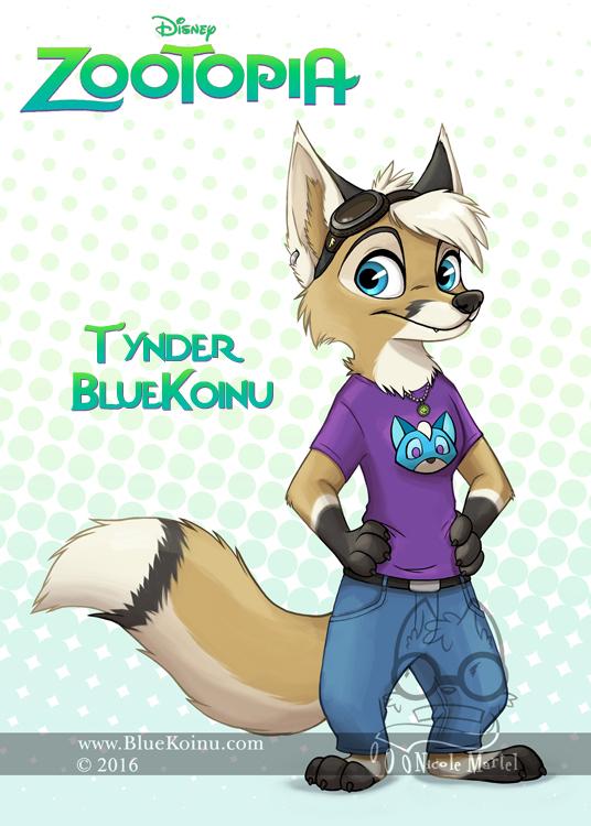 Tynder in Zootopia by bluekoinu