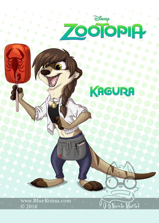 Kagura in Zootopia by bluekoinu