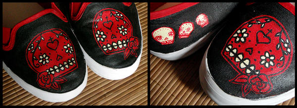 sugar skully shoes by theseareourforests