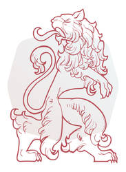 Riga golden lion by kic