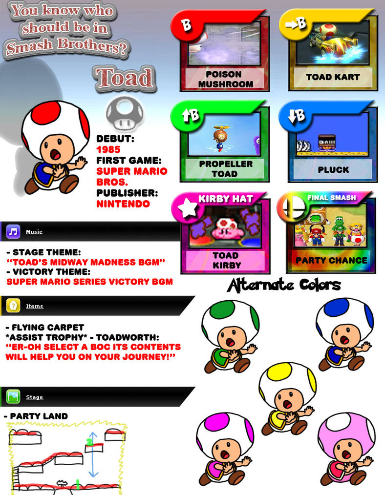 Toad moveset