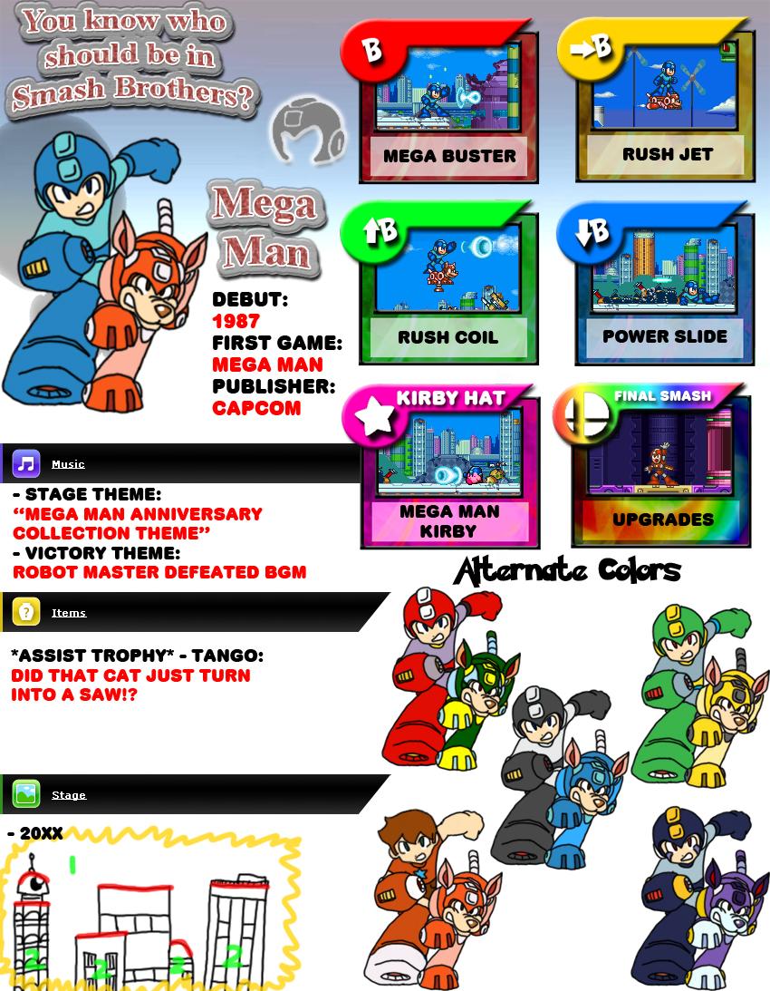Newcomer Mega Man by evilwaluigi