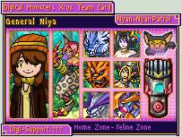 Digimon Xros Army Card - Niya by Diggersby-Tho