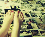 feet on the wall. by XaXaProduct