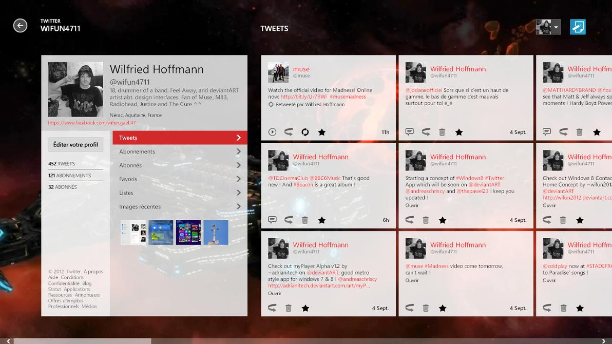 Twitter Profile (wifun4711) Metro Concept by wifun2012