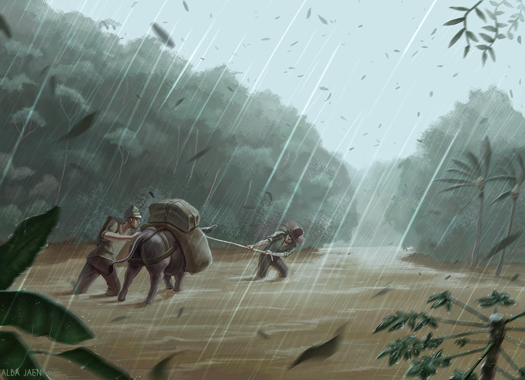 Mythic Ruins - Monsoon by AlbaBeltane