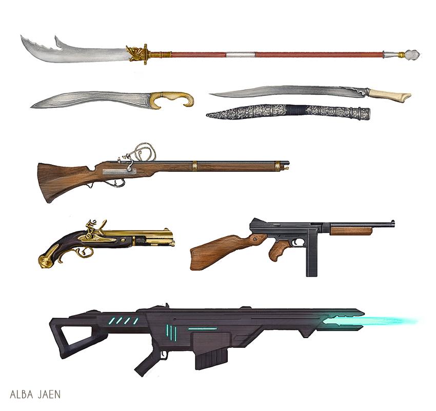 Weapons by AlbaJaen