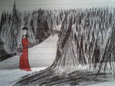 Little red in pen by freakygal505