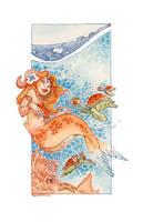 siren Watercolor by Oodmkl