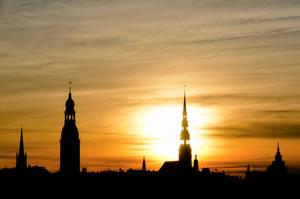 Sunrise in Riga by IvanovSergey