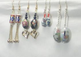 Porcelain beaded earrings by notoes