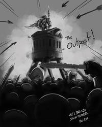 Inktober 2020 - Day 15 - Outpost