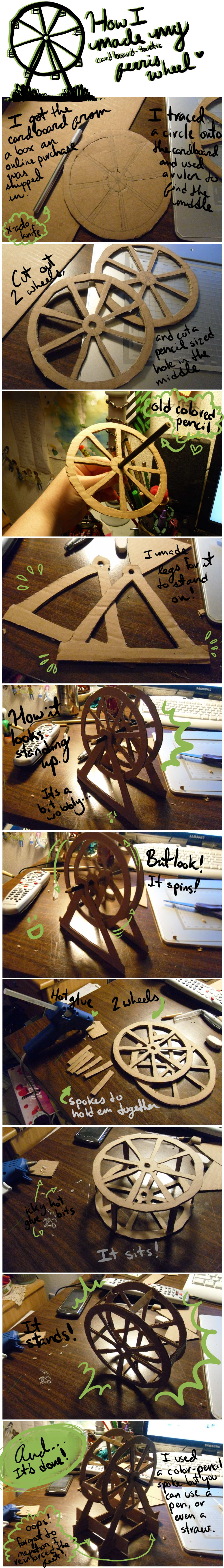 Cardboard Ferris Wheel by CrimsonPearls