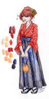 Kimono Doodle by CrimsonPearls