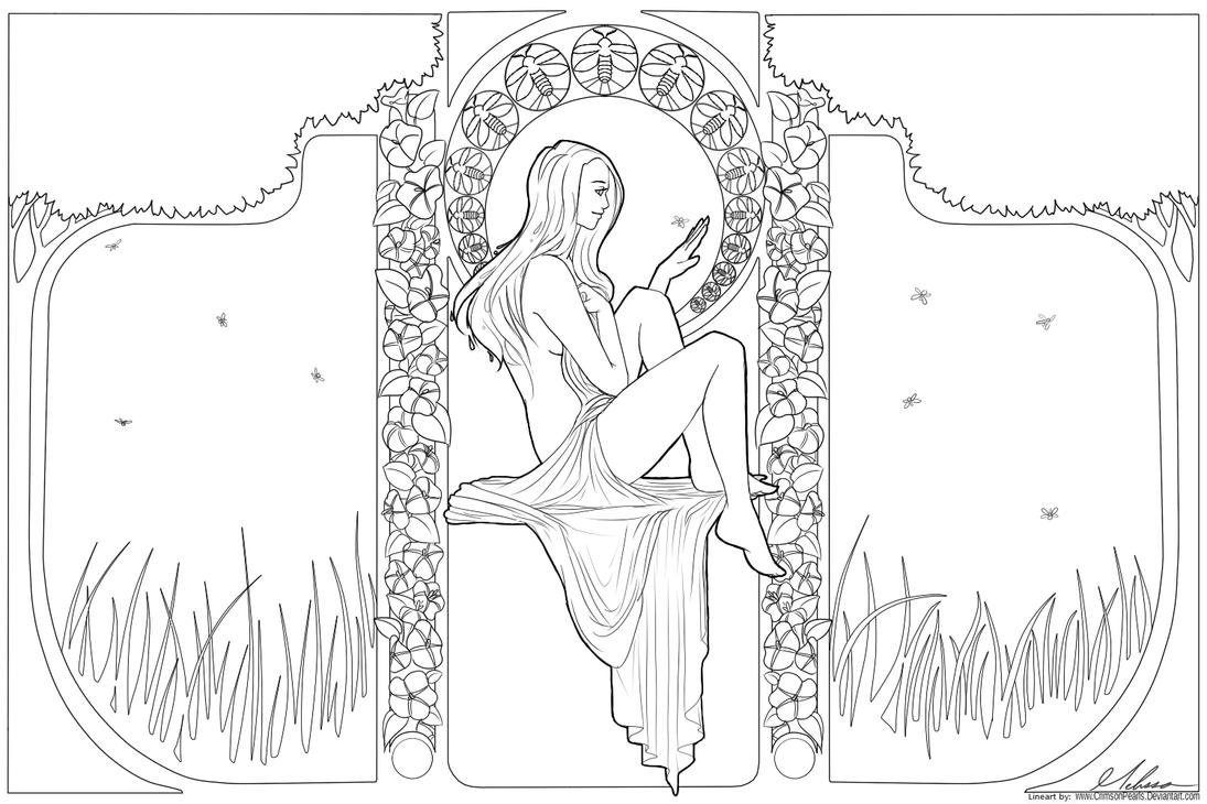 how to draw art nouveau