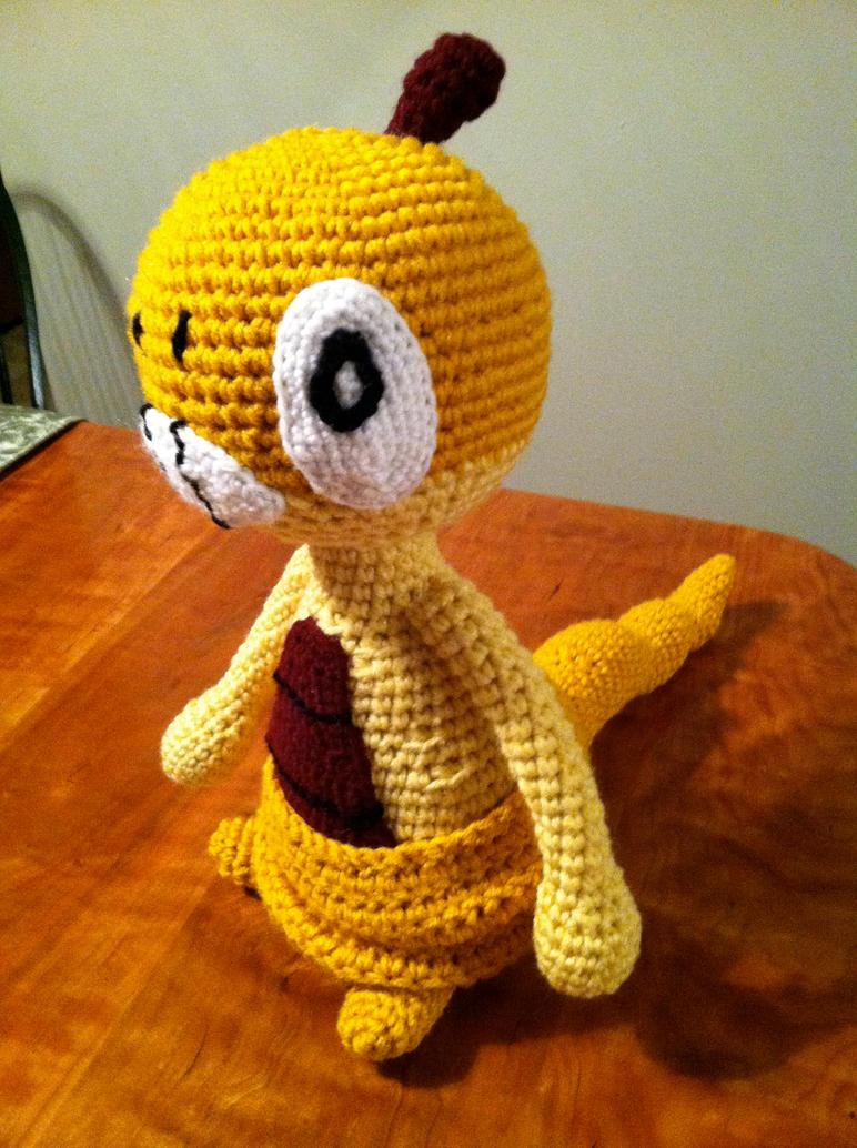 Free Amigurumi Patterns Christmas : Scraggy Plush Crochet Pattern Pokemon Amigurumi by ...