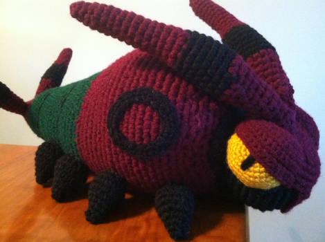 Venipede Free Crochet Plush Pattern