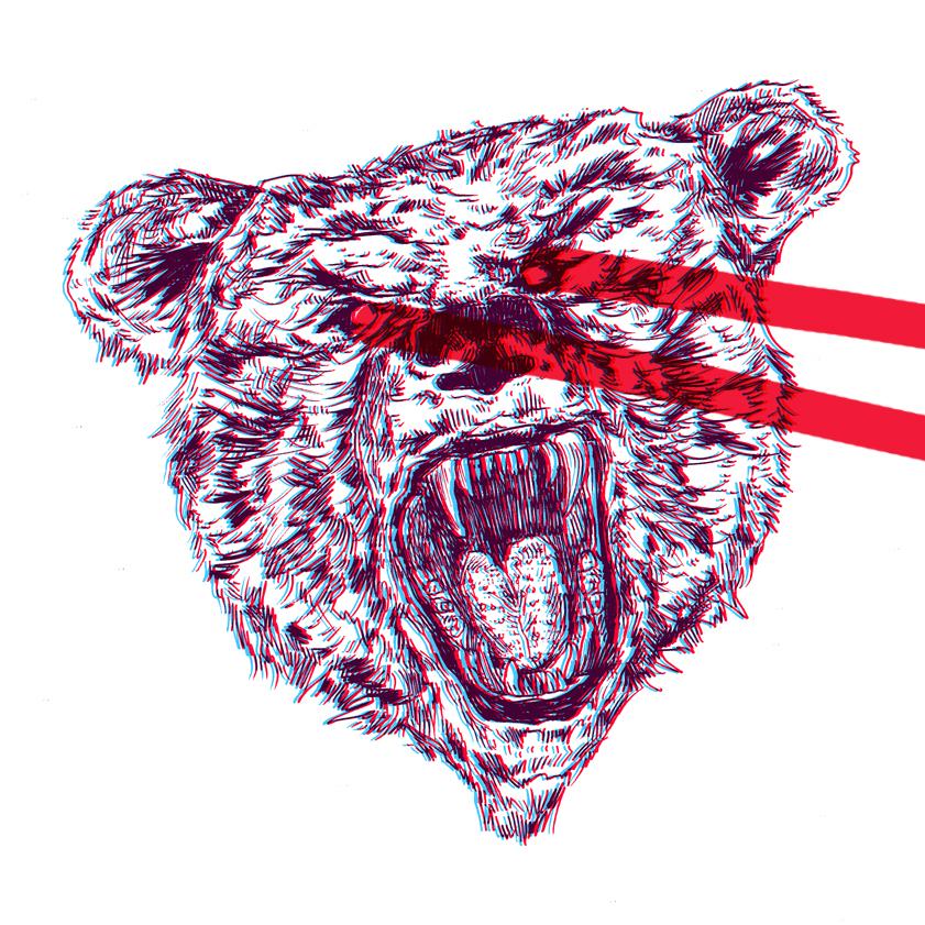 Laser Trendwhore Bear by zhoumlh