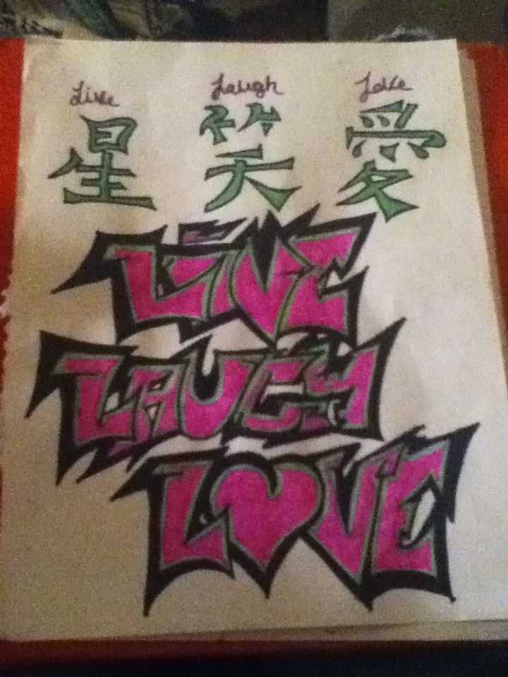Live Laugh Love In Chinese