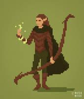 Jojen, wood elf druid by waterwitchrpg