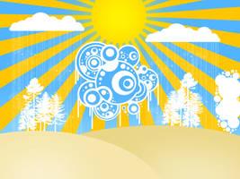 Abstract sunshine by Myssynen
