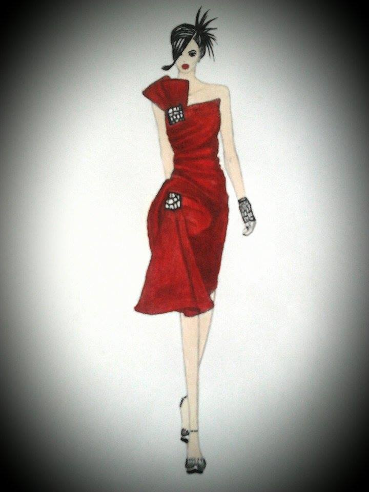 Fashion Design Drawing And Painting Glamour By Dimplest On Deviantart