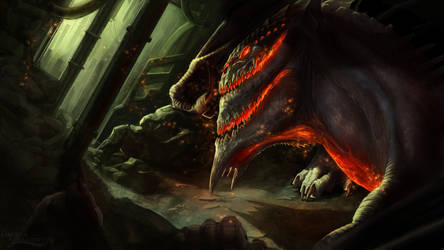 Blight Dragon by UmbraAtramentum