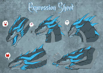Expression sheet for Frost Dragon by UmbraAtramentum