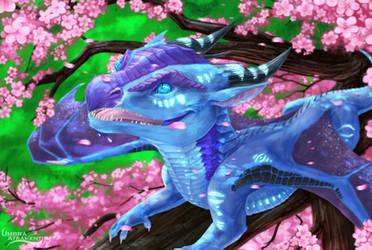 Enjoying the Blossoms [Commission] by UmbraAtramentum