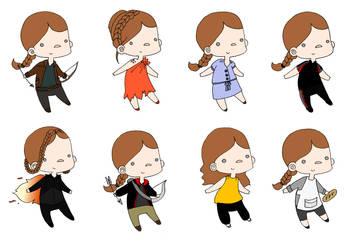 Katniss's Clothes by BertMel
