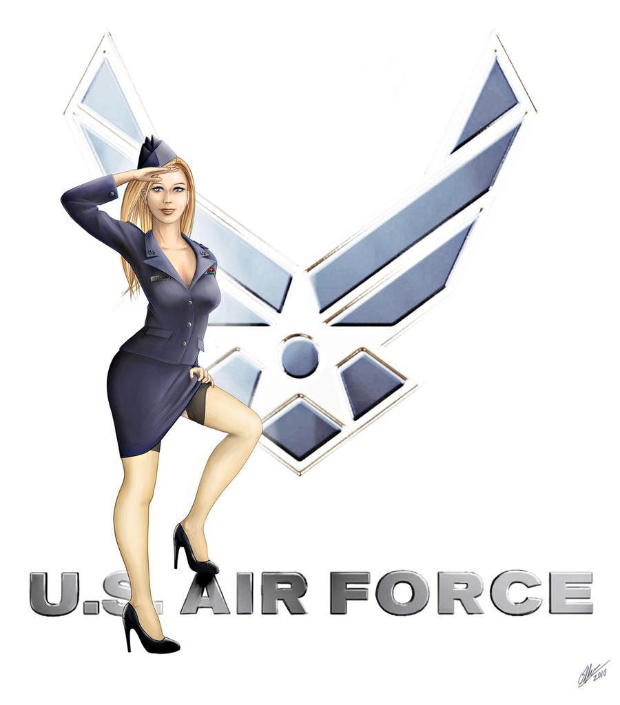 USAF Pin Up Girl by rednotdead