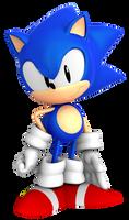 Sonic Mega Drive Pose by BlueParadoxYT