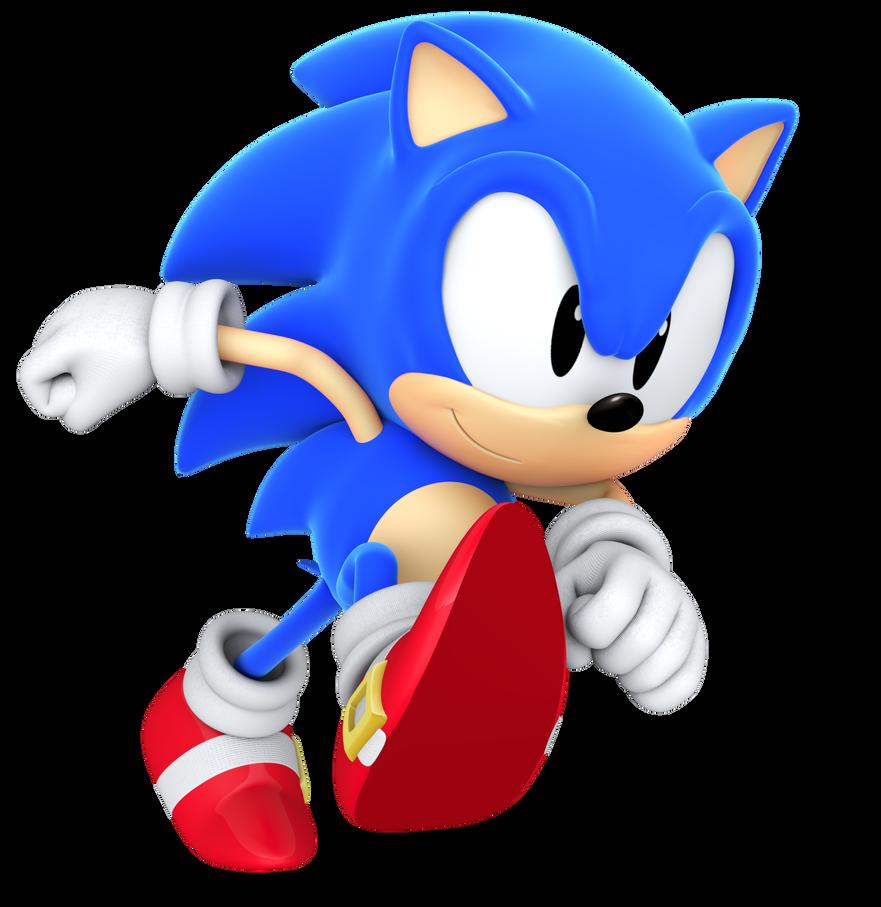 Classic Sonic Running By BlueParadoxYT On DeviantArt