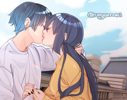Lukanette kiss scene