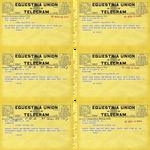 Equestria Union Telegrams