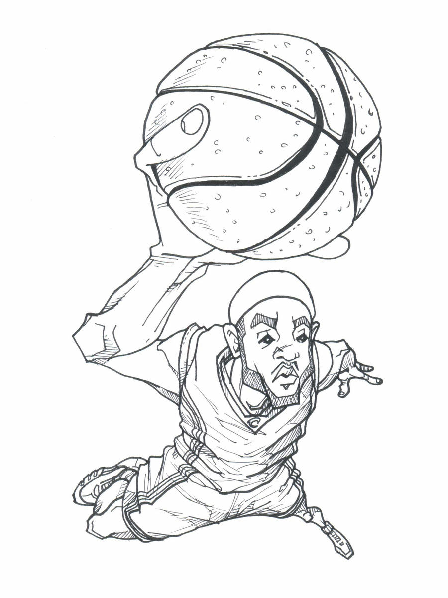 Lebron james free coloring pages for Lebron james coloring pages