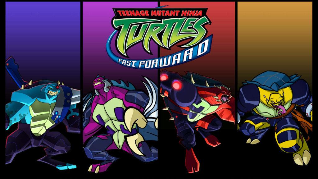 Tmnt 2003 Fast Forward Dark Turtles Fan Poster By Raidenraider