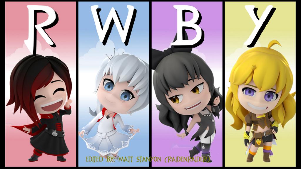 RWBY Chibi Season 2 - Team RWBY Fan Poster (v1) by RaidenRaider