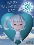 RWBY - Weiss' Happy Valentine's Day Fan Poster