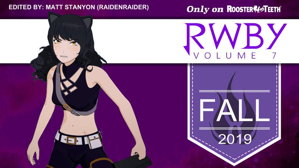 RWBY - Volume 7 Blake Belladonna Fan Poster by RaidenRaider on