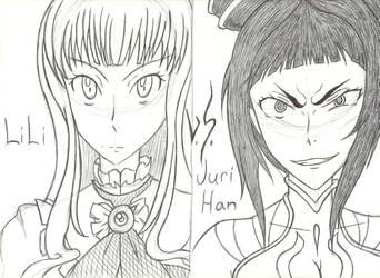 LiLi versus Juri Han by Tenjiyo200