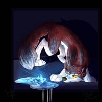Fanart (Cyn Wolf): The Glass is Broken.. by Dokusa