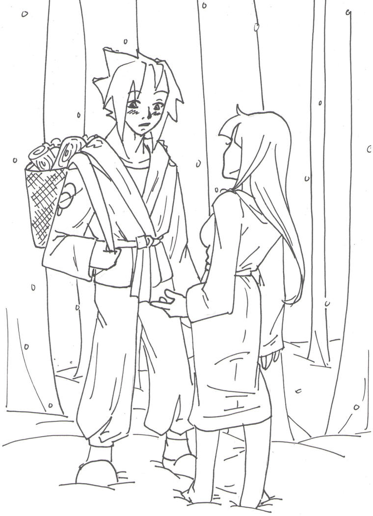 The Tale of Yuki-Onna 2 -- Lineart by megaminoeien