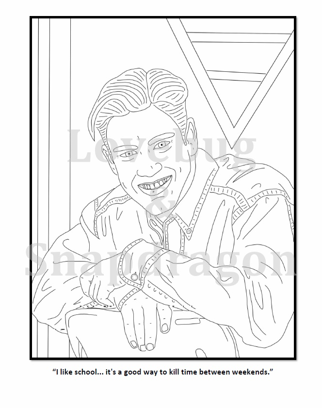 zack morris from saved by the bell coloring page by pi zazz