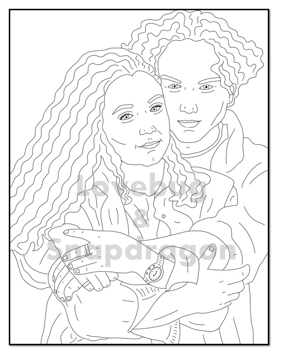 entrevista roseanne coloring pages | Darlene And David from Roseanne by Pi-Zazz on DeviantArt