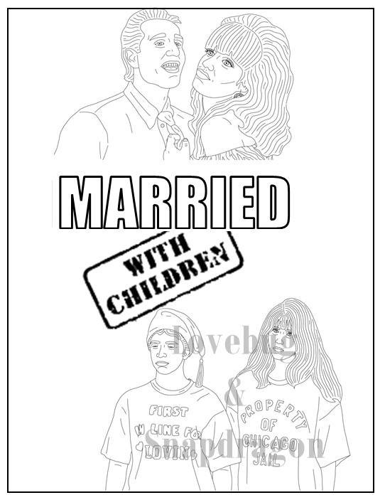Married With Children Coloring Book Cover Page By Pi Zazz